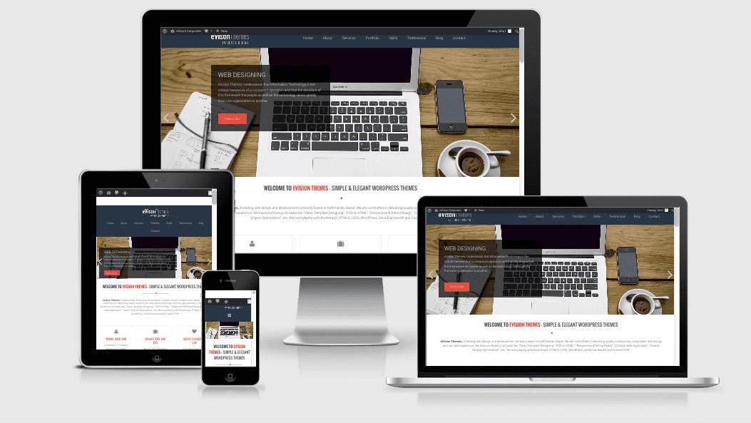 Premium WordPress Themes: eVision Corporate Pro