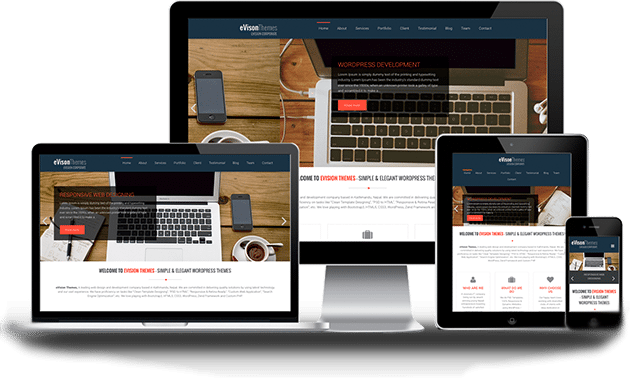 eVision Corporate first free theme