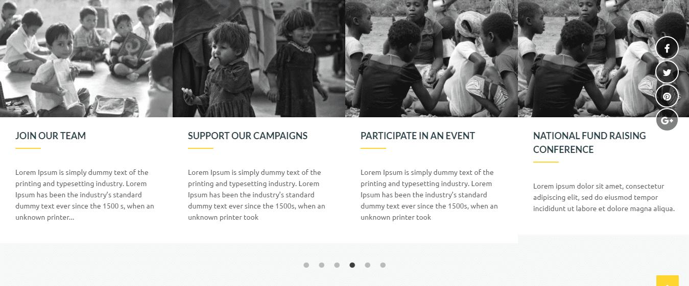 Non-Profit Organizations Theme charitize activity