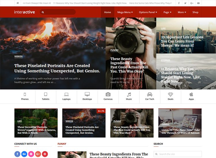 best premium blogging theme: Interactive