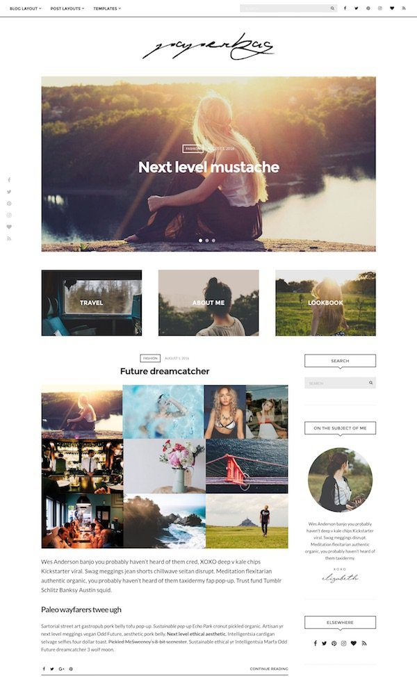 best premium blogging theme: Paperbag