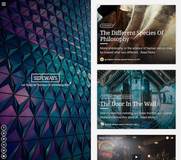 best premium blogging theme: Sideways