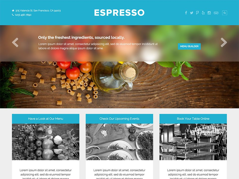 best premium wordpress restaurant themes: Espresso