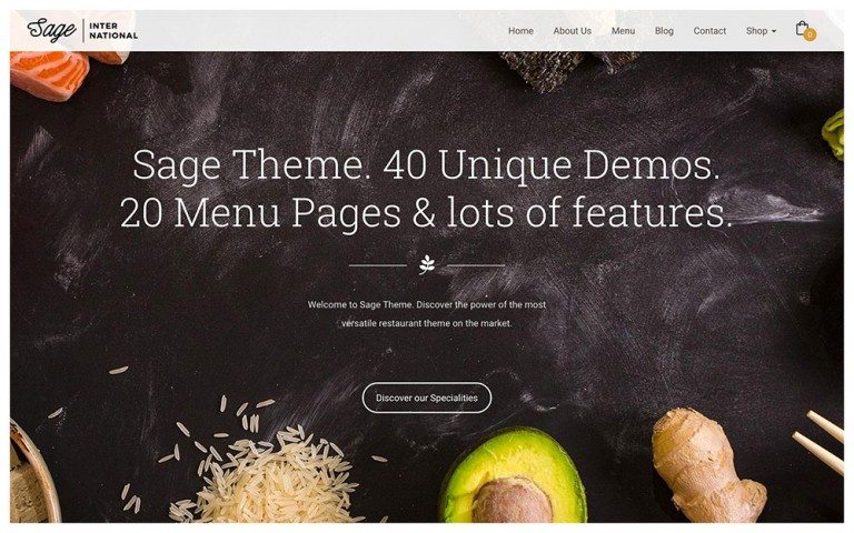 best premium wordpress restaurant themes: Sage