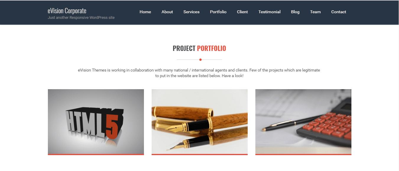 eVision Corporate: portfolio