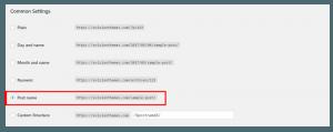 WordPress Permalink Setting