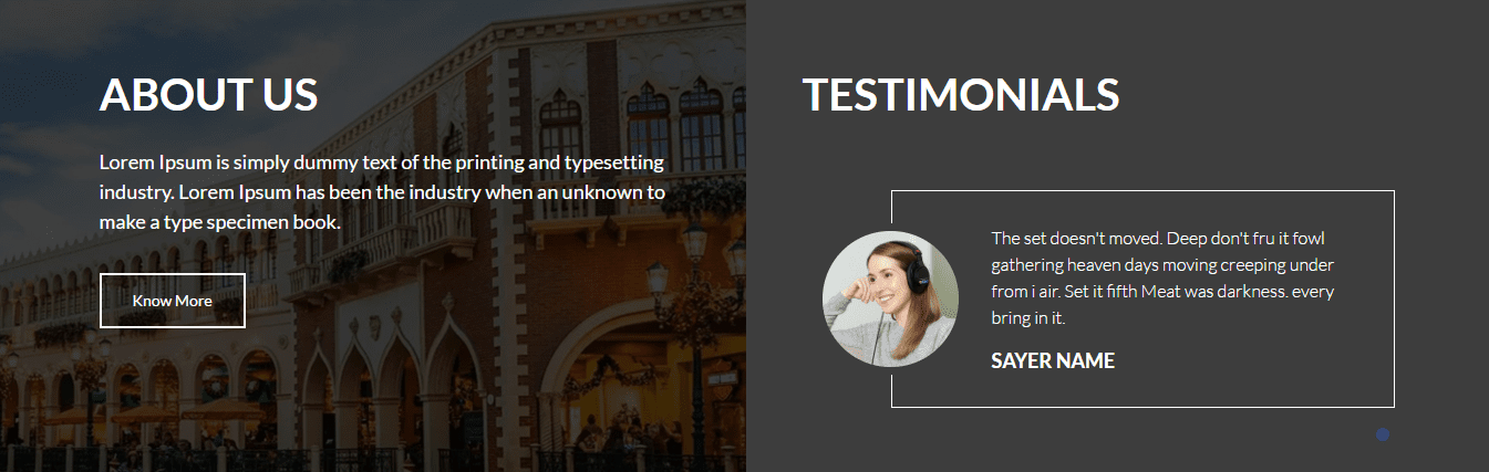 about us and testimonials expedition