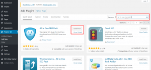 All in One SEO Pack Installing