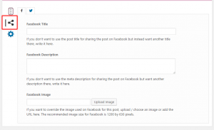 Yoast SEO Social Tab in Content Editor