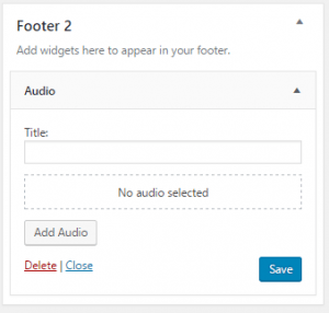 WordPress 4.8 audio widget