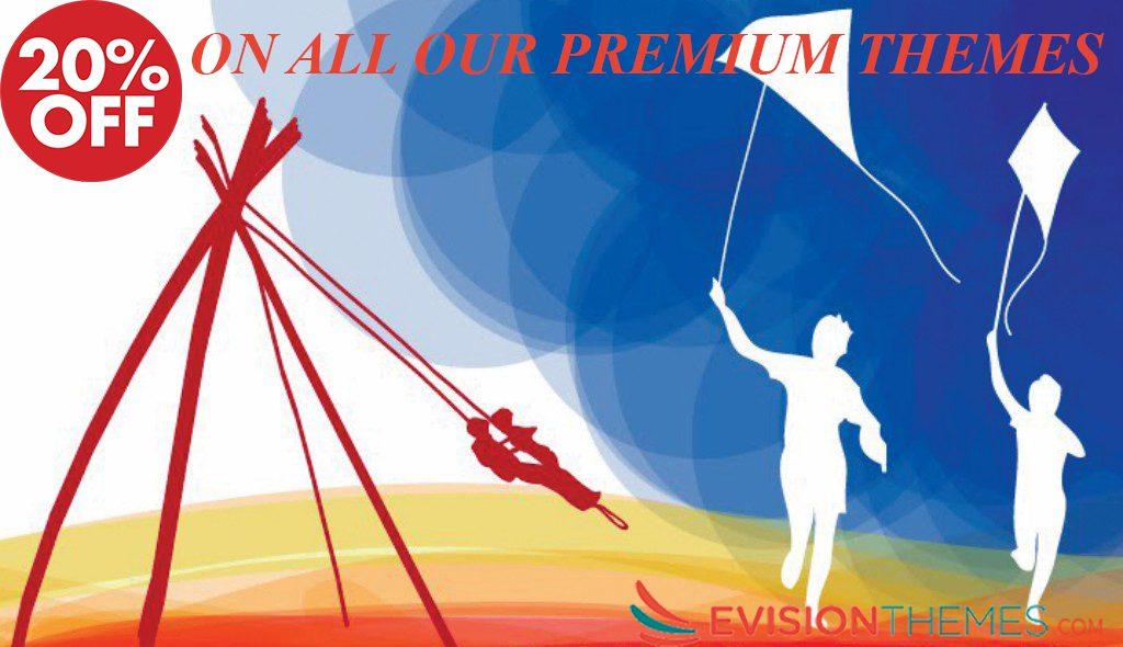 discount on premium themes