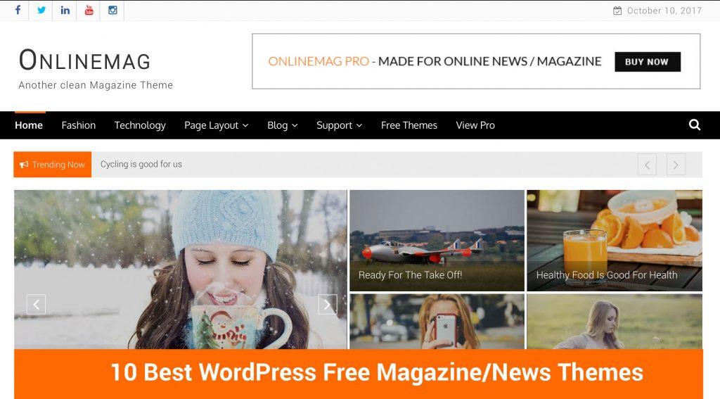 10 Best WordPress Free Magazine/News Themes - eVision Themes Store