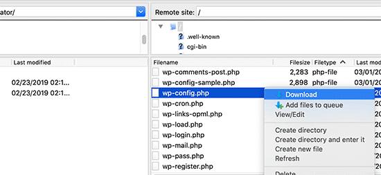 Error to establish Database connection