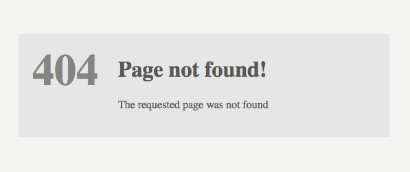 The 404-page error