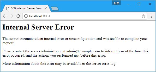 The 500 internal server error