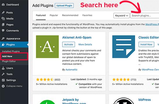 WordPress (WP) Plugin Search
