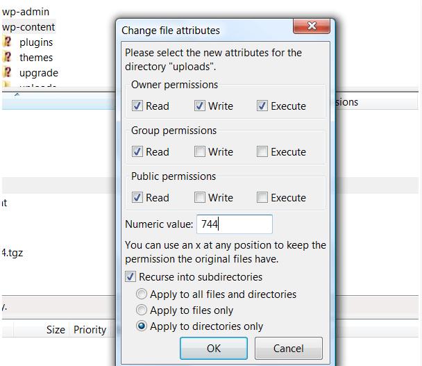 Incorrect file permission