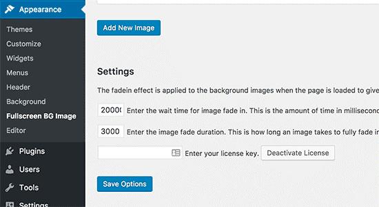 choose image option