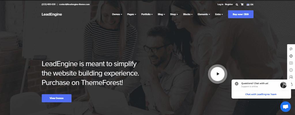 LeadEngine WordPress theme