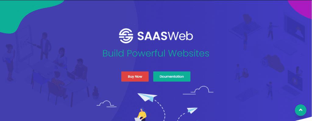 SaaSWeb WordPress theme